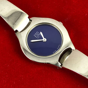 Movado Vintage Watch with Luminous Blue Dial